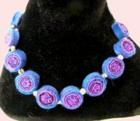 Millefiori Felt Necklace 5