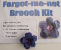 Forget-me-not Brooch Kit
